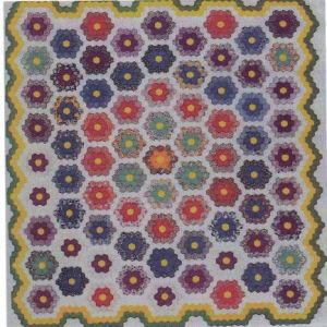 Example of a honey comb quilt like the one Sally made.
