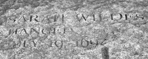 Sarah Averill Wildes Memorial stone