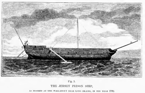 HMS Jersey - one of several prison hulks used to hold Rev. War prisoners.