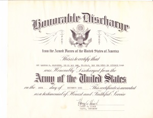 Army Discharge Papers