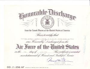 1953 Discharge papers