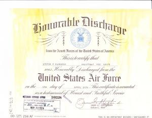 1974 Discharge Papers