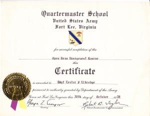 Quartermaster School