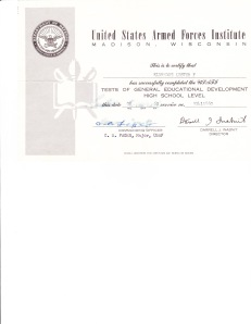 GED Certificate