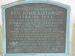 Rev. John Lothrop Memorial
