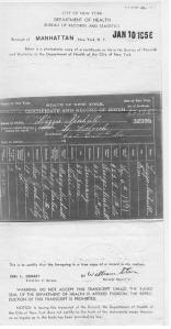 Lizzie's birth certificate