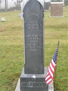 Hiram Roberts & Mary Ann Wilder Roberts Miller's grave stone