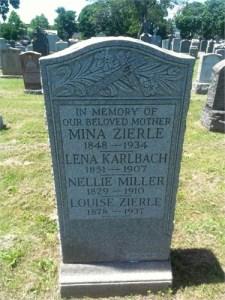 Mina Kuhn Zierle gravestone