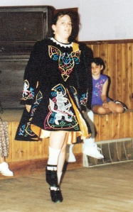 My daughter, Irish step dancing @ reunion 1993 (Yes, I made the dress)